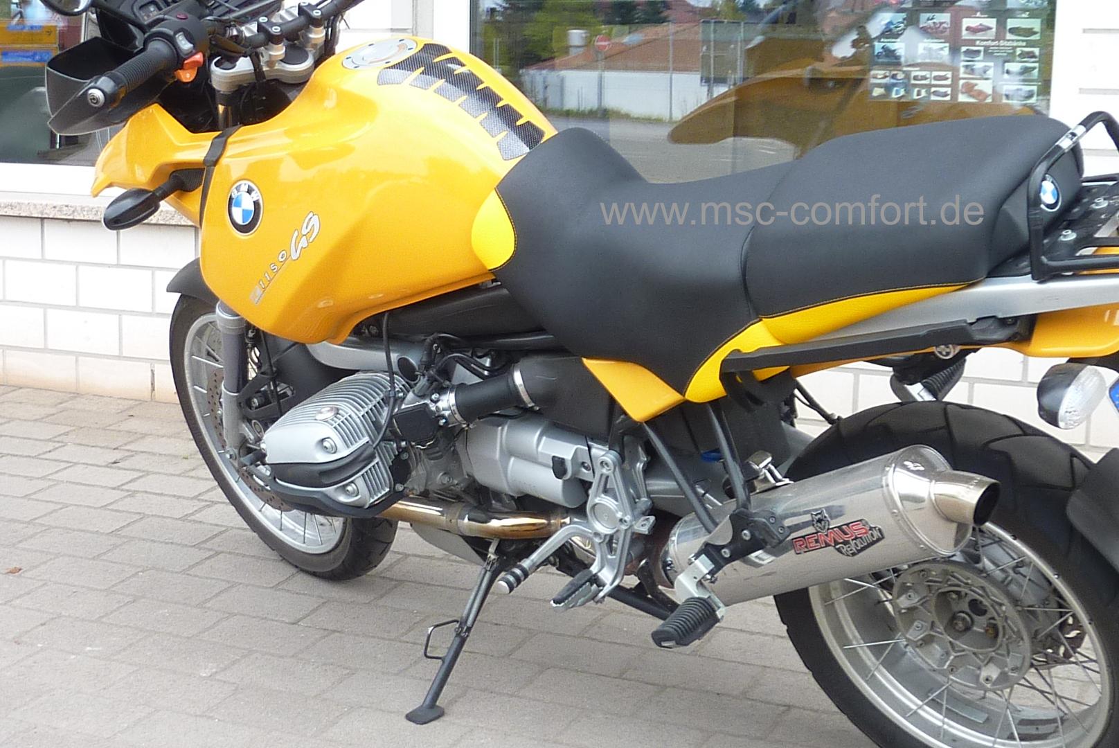 Sitzbank BMW R1150 GS aufgepolstert 2